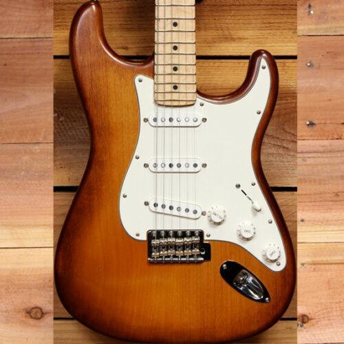 FENDER-HAND-STAINED-USA-STRATOCASTER-2014-Honey-Burst-American-Strat-Nice-90931